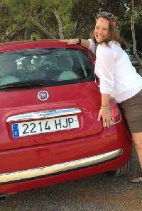 Met de auto Ibiza zien